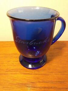 Starbucks cobalt Blue Glass Mug