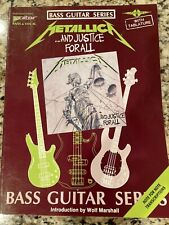 Metallica And Justice For All Bass Guitar Tab, pre-owned Very Good condition!