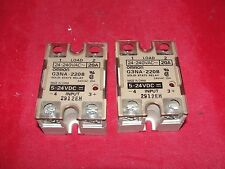 OMRON G3NA-D220B Relay Lot of 2