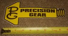 PG Precision Gear Contengency Panel Sticker Toolbox Nascar MANCAVE race car NEW!
