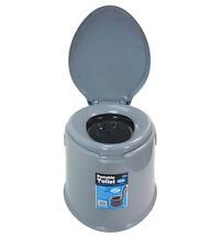 Nouveau 5 L Toilettes Portable Compact Pot Loo Camping Caravane Picnic Pêche Festival