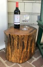 Local Pickup (No Shipping) Handmade Rustic Solid Wood Lacquer End Table/Stool