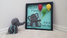 Handmade Crochet Baby Shadow Box Gift Set