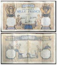 1000 francs  CERES ET MERCURE  30/03/1939   ( 217 )