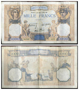 1000 francs  CERES ET MERCURE  30/03/1939   ( 217 )
