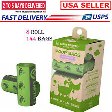 8 Rolls/144Bags Dog Poop Bag Puppy Scented Poop Wastage Scooper Disposable Bags