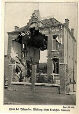 1914 Belgien * Zerschossenes Haus bei Vilvoorde *  WW1