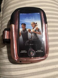 iphone 7 armband & Storage For Exercising/rose Gold & Black, New