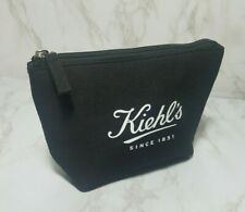 10 x KIEHL'S BLACK CANVAS W/LOGO COSMETIC MAKEUP BAG POUCH BAGS 7.5*5.5*2 INCH