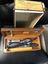 Vintage Medical Equipment B-D JARCHO PRESSOMETER ORIGINAL Wood Case And Box!