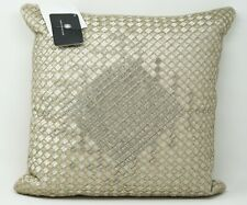 "Hotel Collection Dimensions 100% Cotton 16"" x 16"" Decorative Pillow - Champagne"