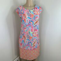 Madison Leigh Dress women size 12 multi color paisley pullover shift career work