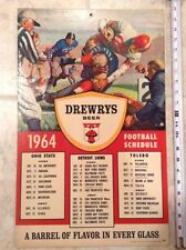 Detroit Lions Football Vintage Sports Schedules
