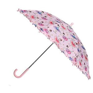 New CTM Kid's Ballerina Print Stick Umbrella