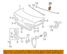 ACURA HONDA OEM Trunk Lid-Torsion Bar Clip 74873SM4003