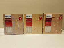 30 count Philips Dewdrop Lights * Multi or White * Copper Pink Silver * NEW