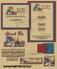 Prim Stuff Americana Collection COMPLETE EBAY STORE DESIGN Raggedy Dreams