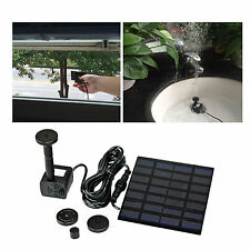 1.2W Solar Power Panel Kit Water Pump for Garden Pond Fountain Pool Submersible