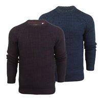Mens Jumper Brave Soul Maximus Twist Cable Kintted Crew Neck Sweater