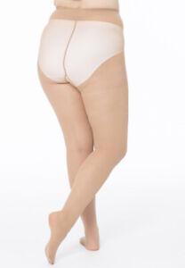 New York Plus-Size 20 Denier Satin Tights XXXL Short Lady Black Or Natural