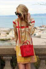ZARA Red Handkerchief Scarf Print Mulberry Silk Print Dress Extra Small XS