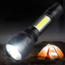 C8T6 COB LED 4000LM Flashlight Portable Super Bright Torch Emergency Light #D