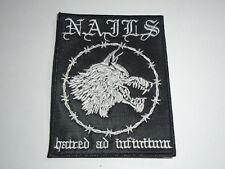 NAILS HATRED AD INFINITUM EMBROIDERED PATCH
