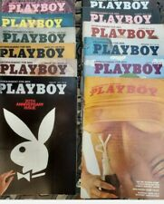 1974 Playboy Magazine Full Year Set All 12 Issues. Complete Collection. Nude Lot