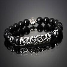 GUNTWO Korean Mens Fashion Bracelets - Biker Bead Metal Chain Bracelet B5248 US