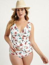 NWT Lucky Brand Fitted Cordeve Tankini Swimsuit Plus Size 3X
