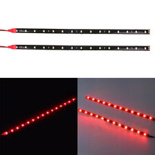1 Pair Red Chic 12 LED 30cm 5050 SMD LED Light Flexible Car Decor Waterproof