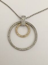 14k White-Yellow Gold Necklace With Diamonds