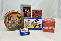 Lot of 6 Walt Disney Epcot Mickey Minnie Mouse Nestle Vintage Tins Collectible