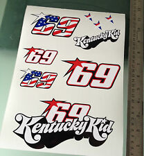 Nicky Hayden Stickers - Large Decal Sticker kit (A4 Size)