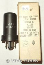 NOS NIB RCA USA JAN-CRC-12SF5 Metal Vacuum Tube 100+%