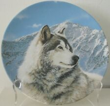 Solitary Watch Thomas Hirata Wild Spirits Wolf 1992 Collector Plate W.S. George