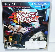 PLAYSTATION3 PS3 KUNG FU RIDER Office Chair Racing! Mint Sealed Game 2010