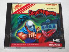 NEC PC ENGINE Hu card Splatter house namco Japan gt duo #6