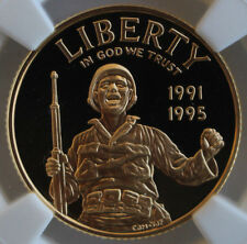 1995 W CIVIL WAR $5 GOLD NGC PF 69 ULTRA CAMEO FREE SHIPPING USA 3832255-004