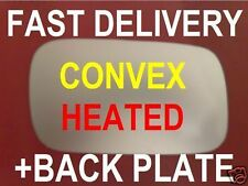 VW CADDY COMBI 1995-02 SEAT INCA WING MIRROR GLASS CONVEX HEATED+PLATE RH or LH