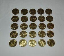25 Coin Set Brass Slammer MLB 1992 Sports Stars Collectors Coins Kirby Puckett