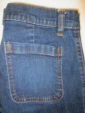 Gap Trouser Stlye Stretch Denim Flare Womens Dark Jeans Size 4 x 31.25
