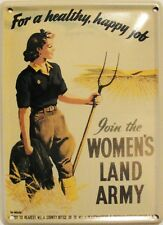 Mini Tin Sign JOIN THE WOMEN'S LAND ARMY