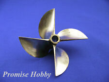 "6717/4 brass propeller prop dia 67mm p1.7 pitch 114mm for 1/4"" shaft rc boat"
