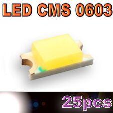 117/25# LED CMS 0603 blanche -110mcd -SMD white - 25pcs