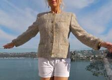 VINTAGE Vinvert Classic Tailored Designer Chic Woven Wool-Weave Jacket