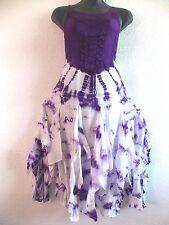 Purple Holiday Dress Fits XL 1X Plus Corset Lace Up Chest Layered Hem NWT b209