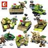 sembo Bausteine Modellbausätze Militär Soldaten Krieg 8PCS Mini Spielzeug DIY
