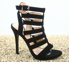 Women's Fashion Strappy Open Toe Gladiator Stiletto Heel Booties Shoes Size 5-10