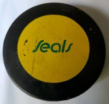 CALIFORNIA SEALS VINTAGE SUPER RARE OFFICIAL HOCKEY PUCK MADE IN CZECHOSLOVAKIA
